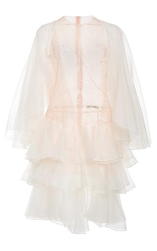 Medium lana mueller pink violet ruffle mini dress