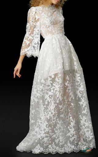 Medium elizabeth fillmore white the ada dress