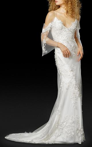 Medium elizabeth fillmore white the iris gown