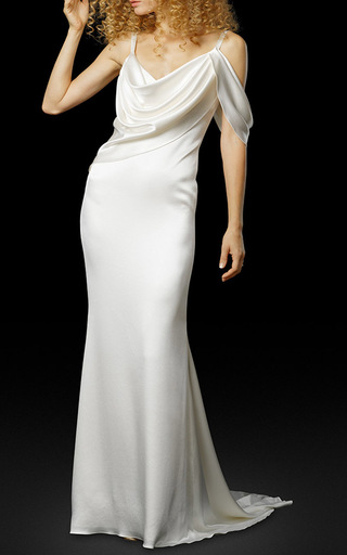 Medium elizabeth fillmore white the lena gown