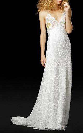 Medium elizabeth fillmore white the trudie gown