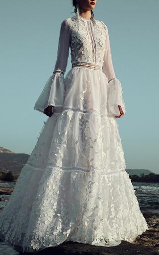 Medium costarellos white garden lace skirt