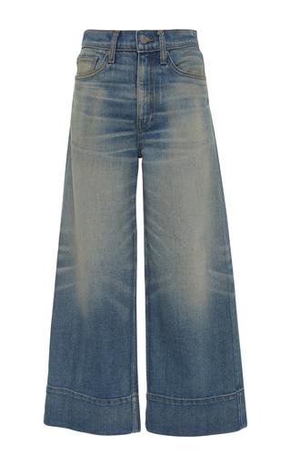 Medium brock medium wash selvage beatrice wide leg jeans