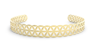 Medium noor fares gold seed of life choker in yellow gold