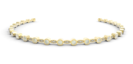 Medium noor fares gold mandorla choker in yellow gold blue moonstone with diamonds