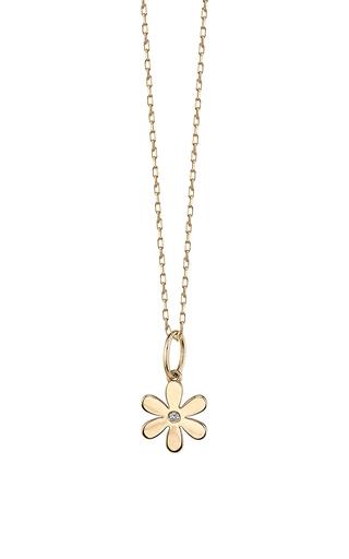 Medium sydney evan gold single stone daisy charm