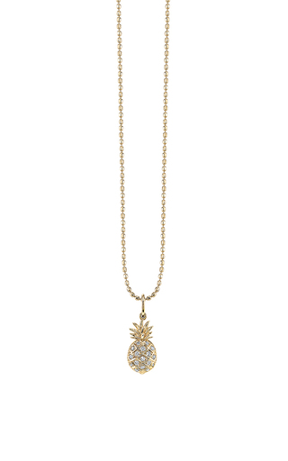 Medium sydney evan gold pave pineapple charm