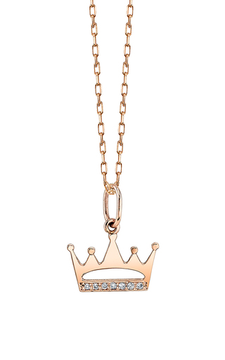 Medium sydney evan gold crown cut out charm
