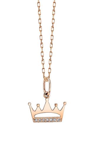 Medium sydney evan gold crown cut out charm