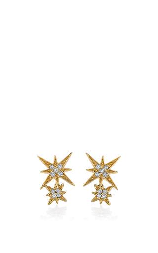 Medium sydney evan gold double starburst studs