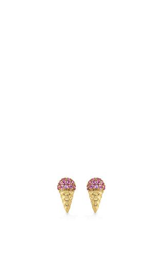 Medium sydney evan pink small ice cream cone studs