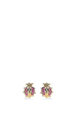 Medium sydney evan pink mini ladybug studs