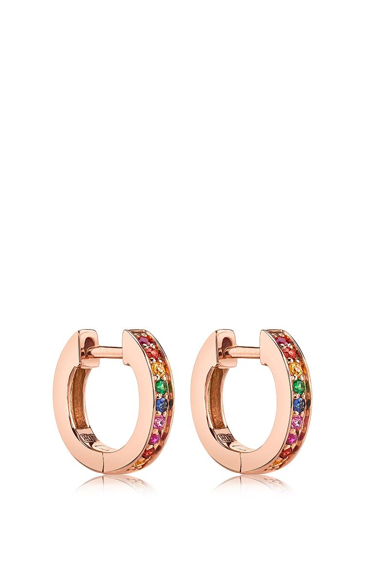 Sydney Evan Small Rainbow Huggie Hoops earrings iFH2h