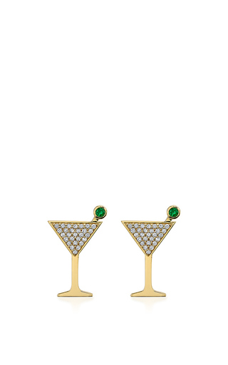 Medium sydney evan green large martini glass studs