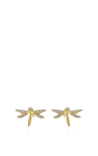 Medium sydney evan gold dragonfly studs