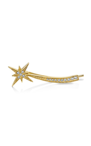 Medium sydney evan gold shooting star left ear wire
