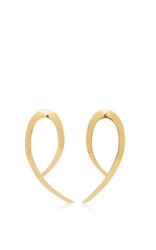 Medium jennifer fisher gold xl root earrings in gold