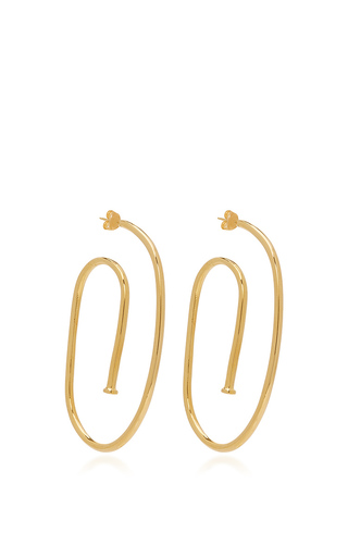 jennifer moda large medium hoop by operandi fisher earrings silver in pipe