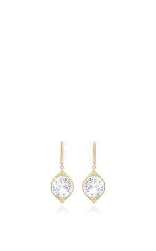 Medium jamie wolf gold aladdin white topaz and diamond drop earrings