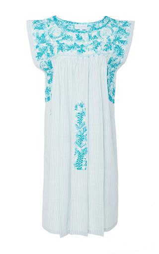 Medium mi golondrina turquoise con amor hand embroidered dress