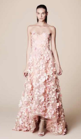 43fb5b413b7 Marchesa Notte Strapless High Low Gown by Marchesa | Moda Operandi