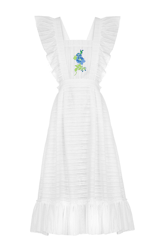 Medium flow the label white embroidered apron dress