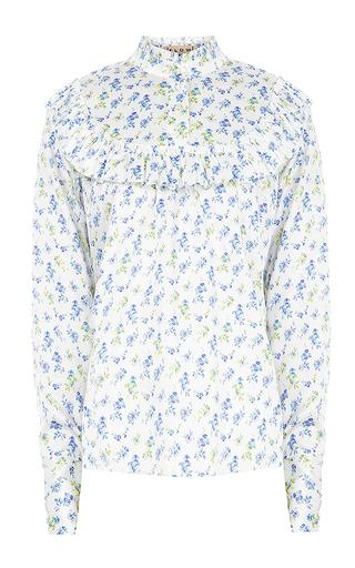 Medium flow the label floral floral ruffle blouse