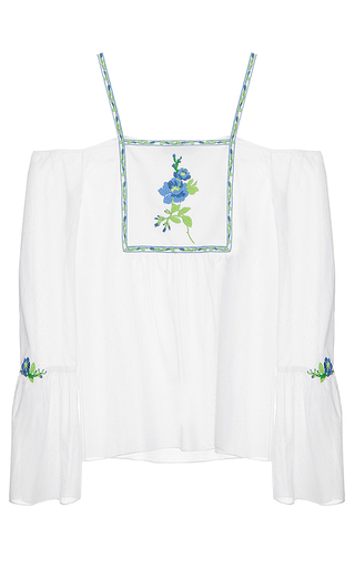 Medium flow the label white drop sleeve top