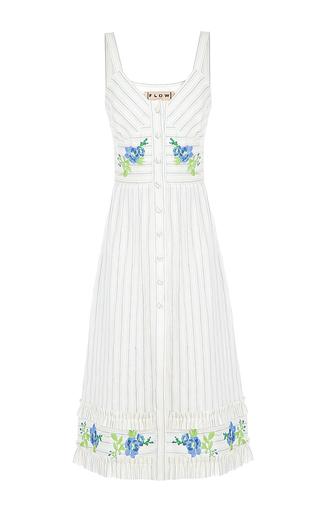 Medium flow the label stripe stripe embroidered dress