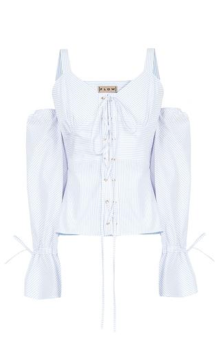 Medium flow the label white lace up cold shoulder top