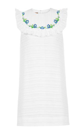 Medium flow the label white embroidered mini dress