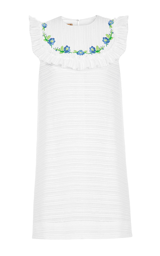 Medium flow the label white embroidered mini dress