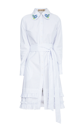 Medium flow the label stripe stripe shirt dress
