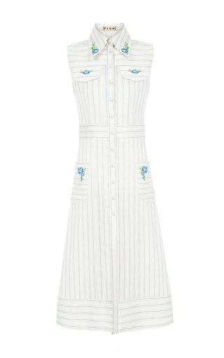 Medium flow the label stripe long stripe embroidered vest