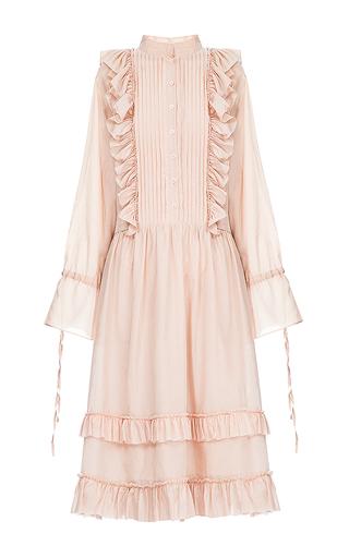 Medium flow the label neutral ruffle midi dress