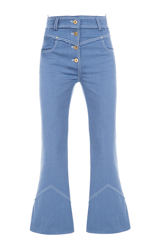 Medium flow the label blue button fly jeans