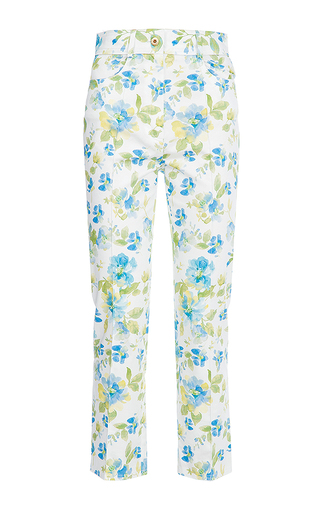 Medium flow the label floral printed cropped pants