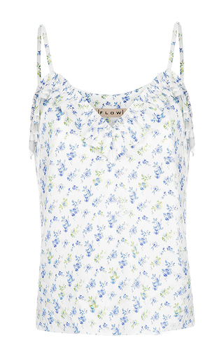 Medium flow the label floral printed tank top
