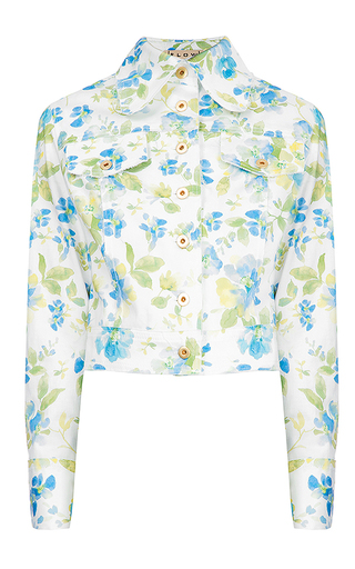 Medium flow the label floral printed bomber jacket