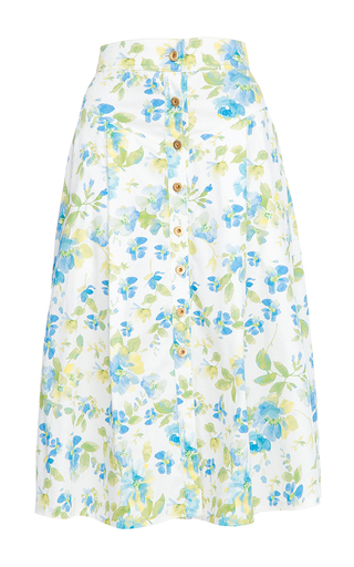 Medium flow the label floral floral printed skirt