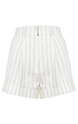 Medium flow the label stripe high waisted striped shorts