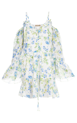 Medium flow the label floral printed tunic mini dress