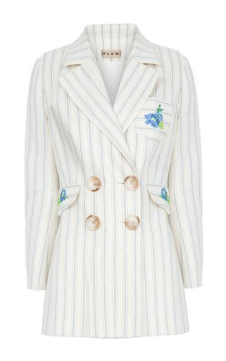 Medium flow the label stripe embroidered pinstripe jacket