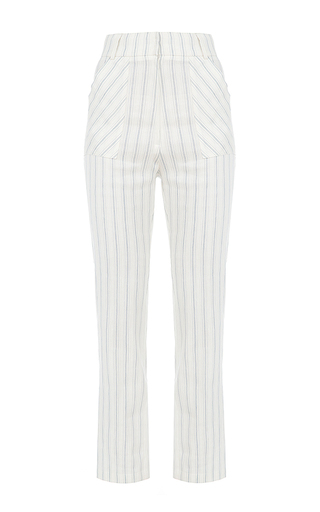 Medium flow the label stripe cropped pinstripe pants