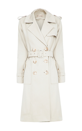 Medium flow the label neutral embroidered trench coat