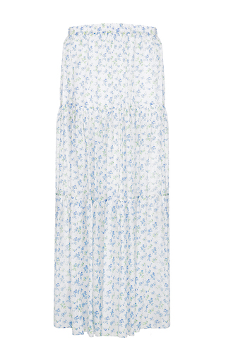 Medium flow the label floral floral printed maxi skirt