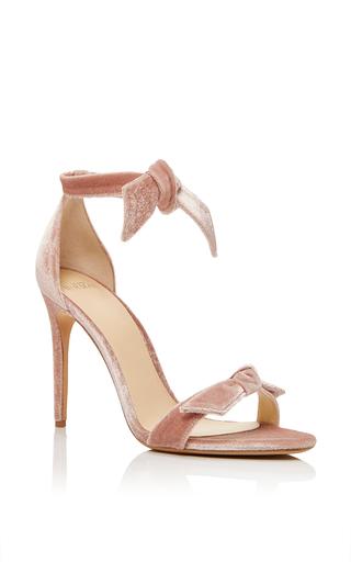 Medium alexandre birman pink clarita velvet sandal