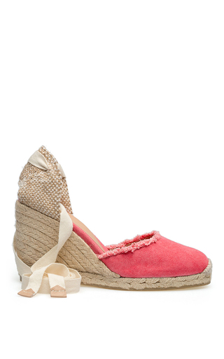 Medium castaner pink carina canvas espadrilles 2