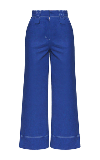 Medium marianna senchina blue high waist cropped denim pants