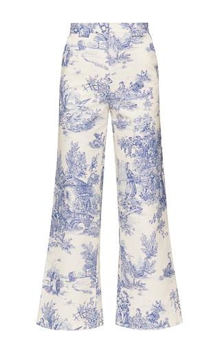 Medium marianna senchina print french print high waist cropped pants